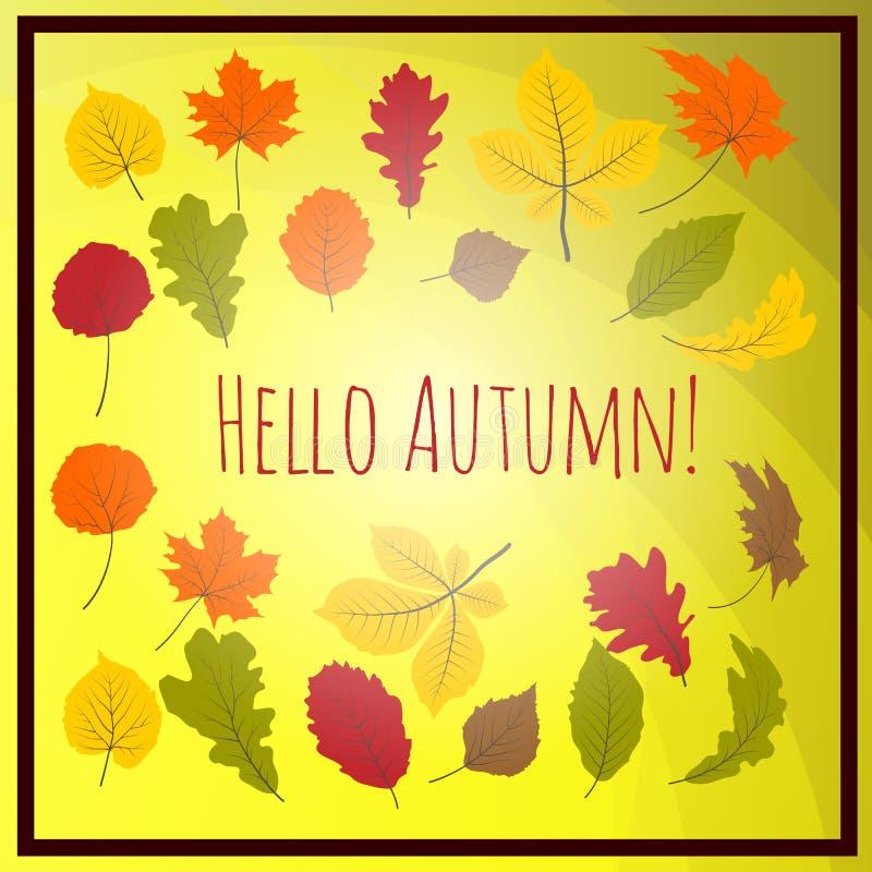 Download 你好秋叶 向量例证. 插画 包括有 11月, 本质, 叶子, 10月, 五颜六色, 乱画, 设计, 植物群 - 72362093