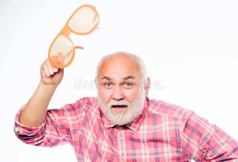 你好everyine E E ?? r 在白色隔绝的成熟有胡子的人 库存图片