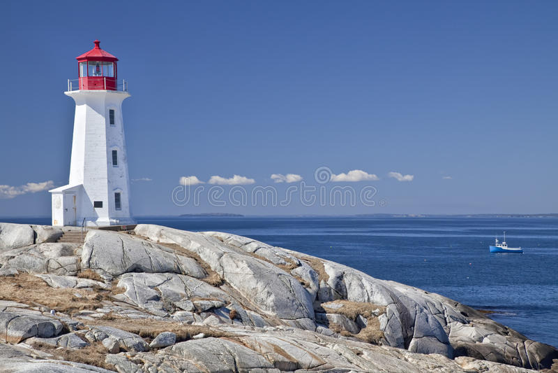 佩吉的小海湾灯塔 免版税库存照片