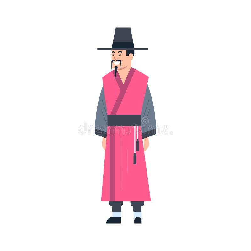 佩带古老服装被隔绝的亚洲礼服概念的蒙古传统衣裳人 皇族释放例证