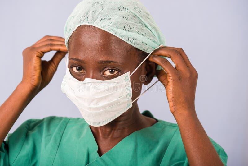 年轻女人医生的画象 库存图片