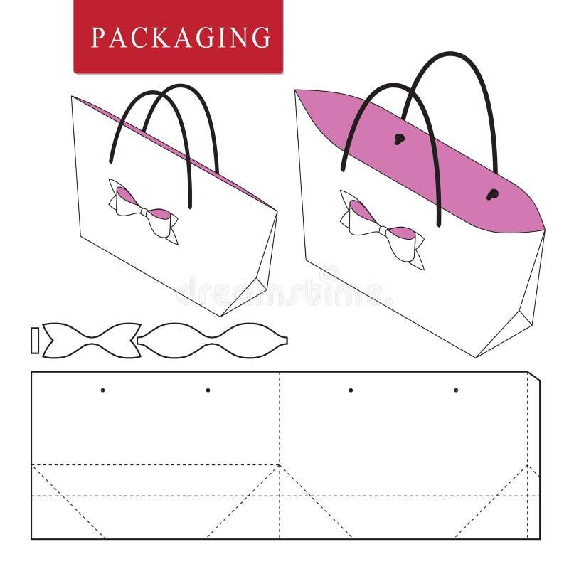 佩带的袋子包装的模板 向量例证