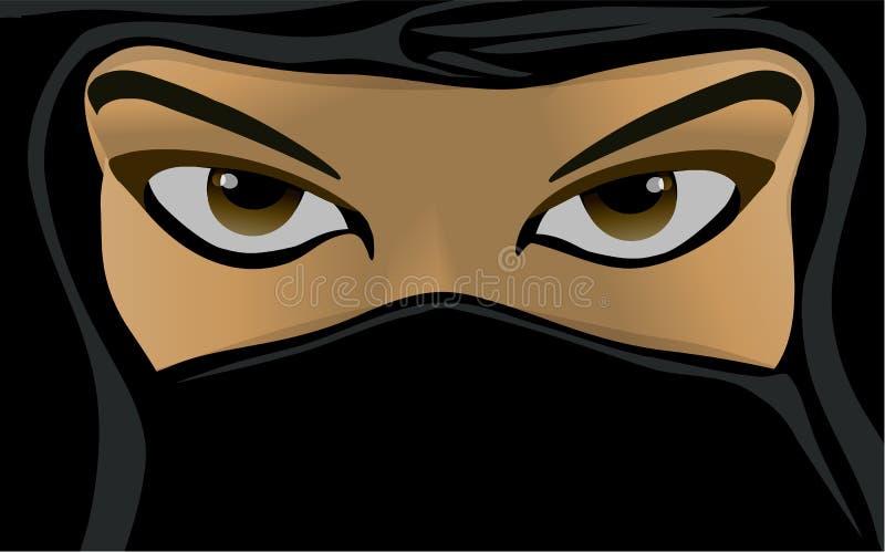 佩带burka的回教妇女 库存例证