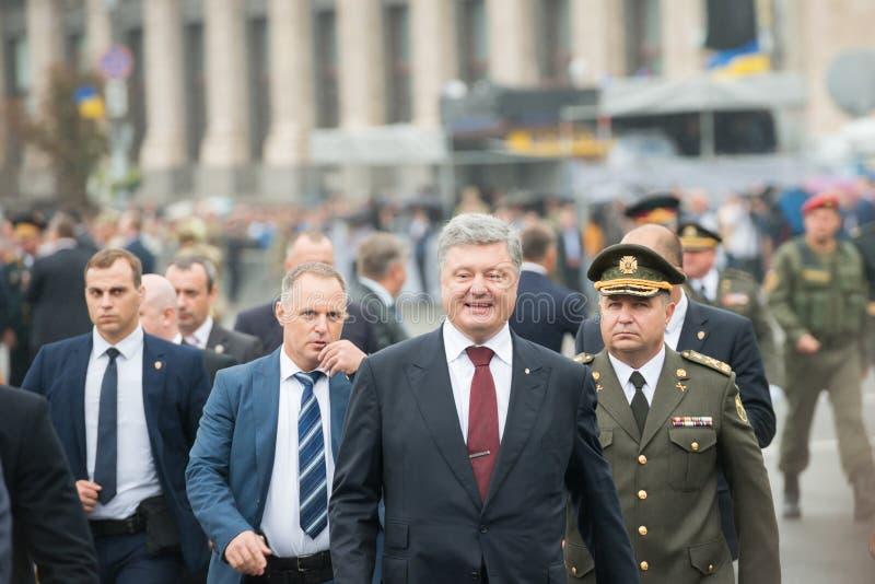 佩德罗波罗申科总统在基辅 免版税库存照片