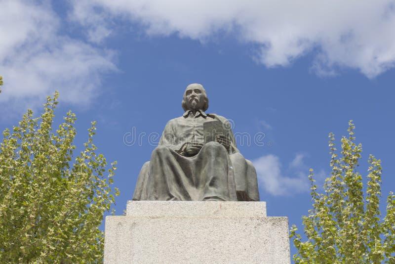 佩德罗Calderon de la巴尔卡角雕象,首要西班牙黄金时代T 库存图片