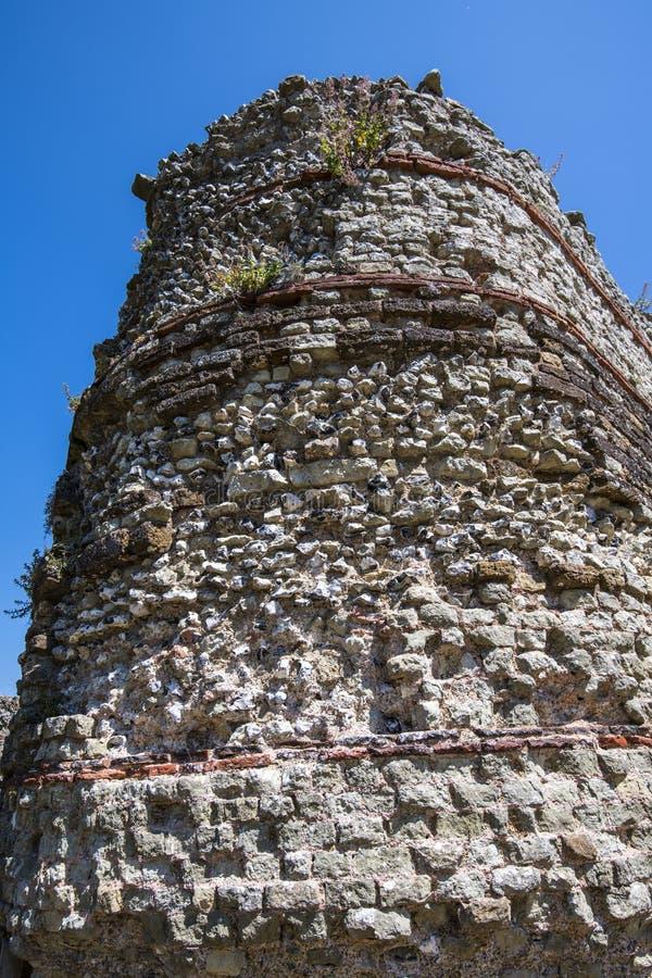 佩文西城堡,东萨塞克斯郡,英国 库存照片