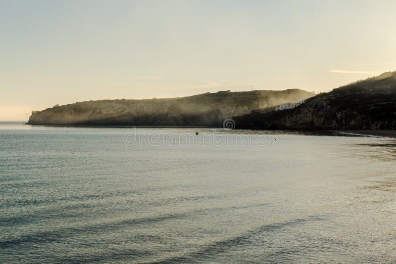 佩斯基奇圣Nicola海湾早晨 库存图片