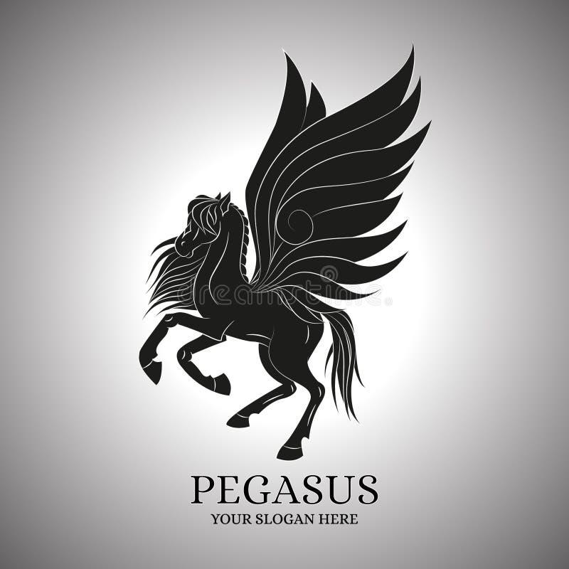 佩格瑟斯传染媒介,商标,模板 皇族释放例证