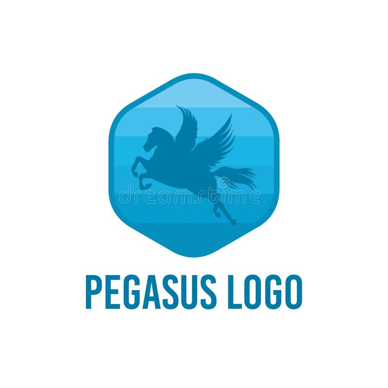 佩格瑟斯商标传染媒介艺术商标模板和例证 皇族释放例证