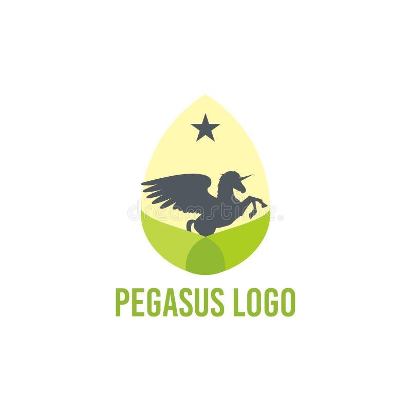 佩格瑟斯商标传染媒介艺术商标模板和例证 库存例证