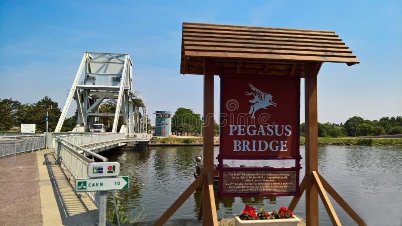 佩格瑟斯桥梁在邦纳维尔 免版税库存照片