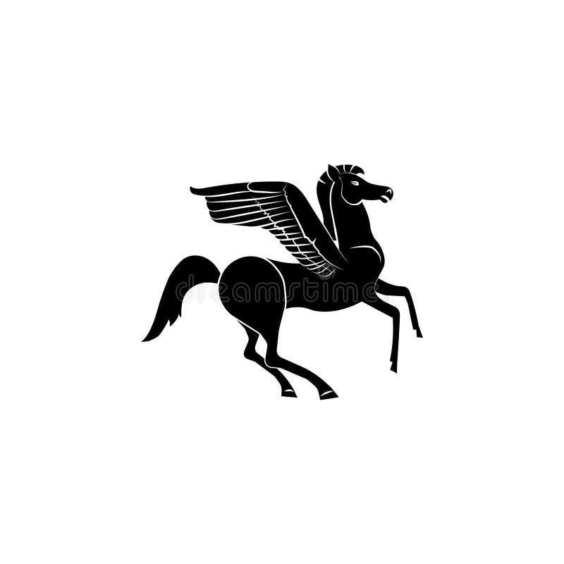 佩格瑟斯象标志标志 皇族释放例证