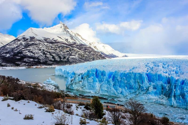 佩里托莫雷诺冰川,埃尔卡拉法特,巴塔哥尼亚,阿根廷 库存图片