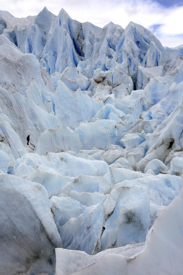 佩里托莫雷诺冰川-巴塔哥尼亚-阿根廷 免版税库存照片