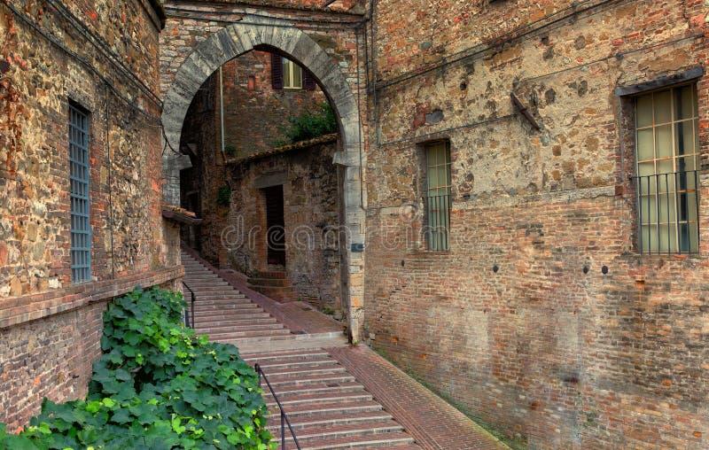 佩鲁贾的历史的中心 免版税库存照片