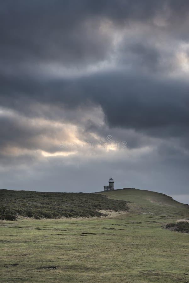 佳丽在南下来的兜售者灯塔的惊人的风景图象 免版税库存图片