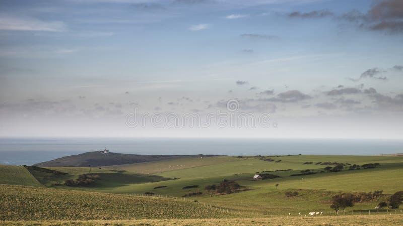 佳丽在南下来的兜售者灯塔的惊人的风景图象 免版税库存照片