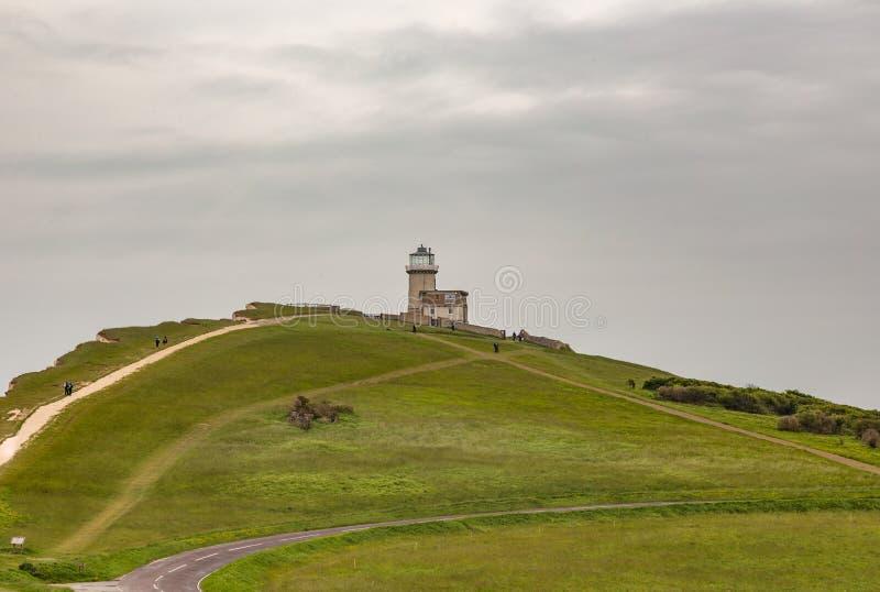 佳丽在象海滨头的Toute灯塔, 免版税库存照片