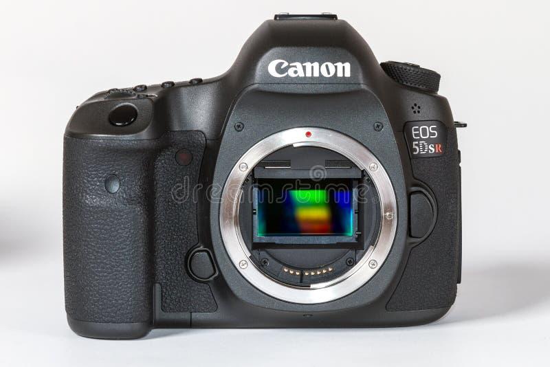 佳能EOS 5DSR和5Ds DSLR 50 megapixels 库存照片