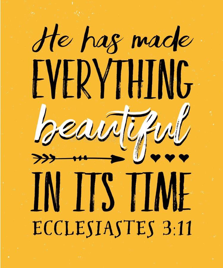 他使一切美丽在它的时间 皇族释放例证