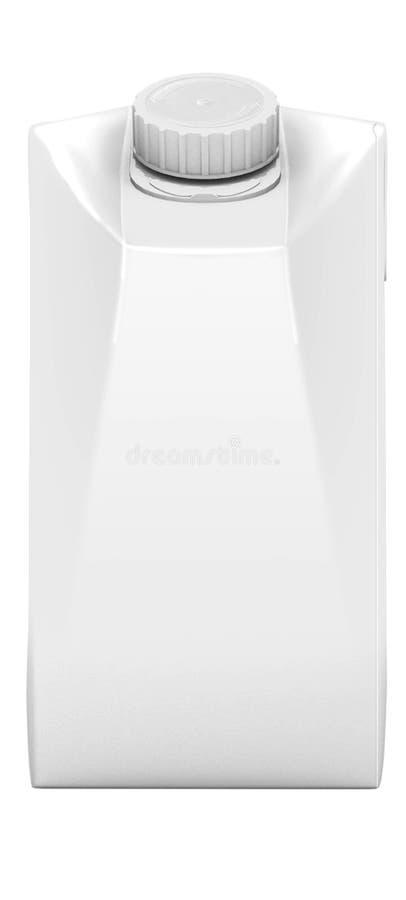 使包装的牛奶汁的3D被隔绝在白色背景 皇族释放例证