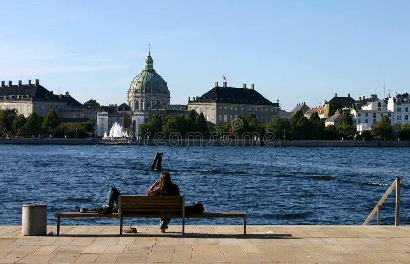 使变冷的哥本哈根歌剧 库存图片