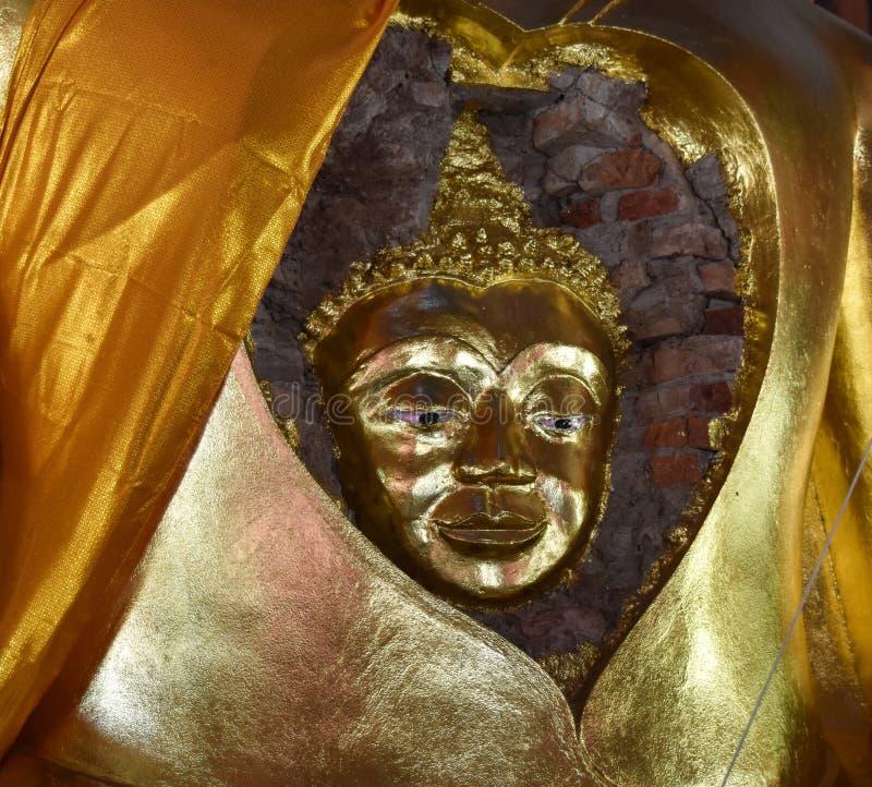 使古老菩萨惊奇的面孔菩萨的 库存照片
