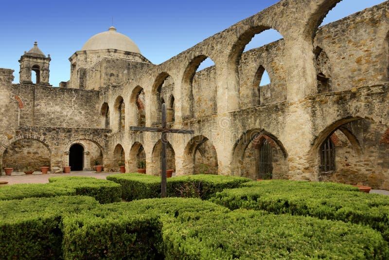 使命圣何塞,圣安东尼奥得克萨斯 库存照片