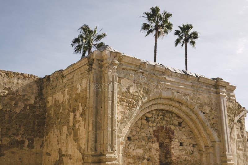 使命圣胡安卡皮斯特拉努废墟 库存图片