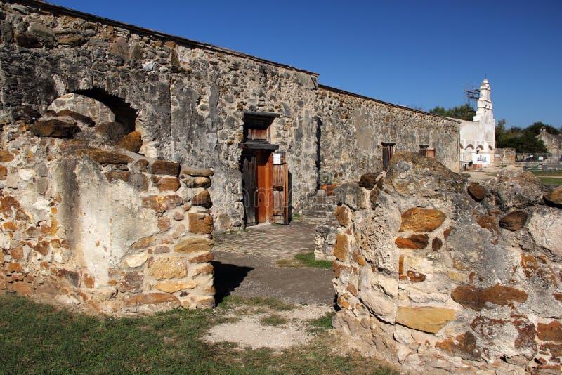 使命圣胡安废墟 库存图片