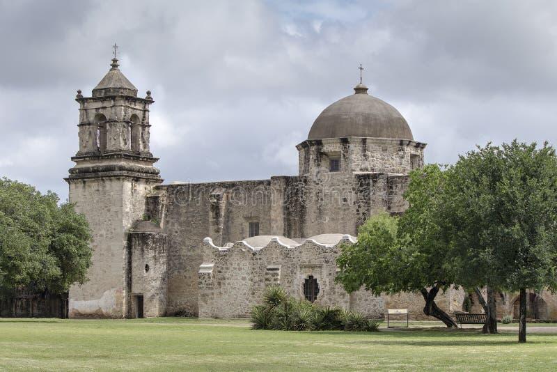 使命圣胡安de Capistrano,圣安东尼奥,得克萨斯 库存照片