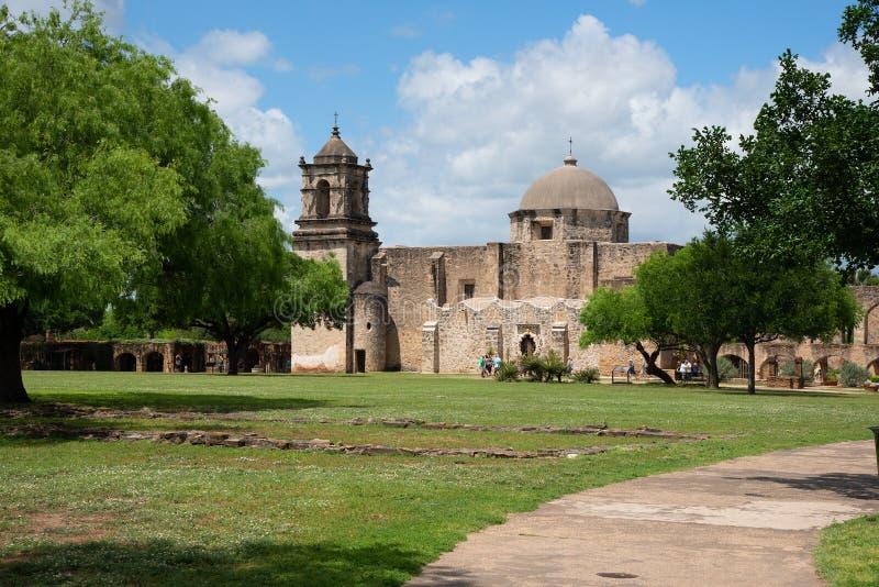 使命圣荷西圣安东尼奥得克萨斯 免版税图库摄影