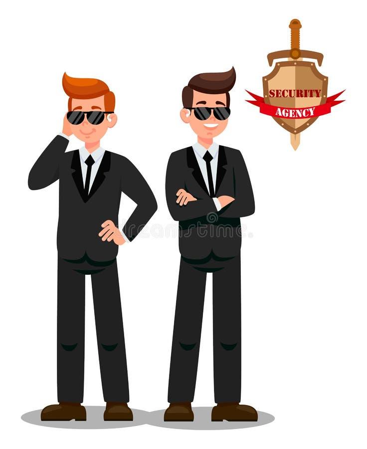 使命平的卡通人物的两位保镖 皇族释放例证