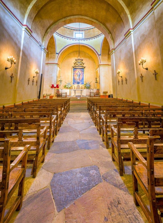 使命康塞普西翁角教堂 免版税库存图片