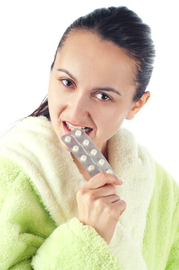 使妇女服麻醉剂 免版税图库摄影
