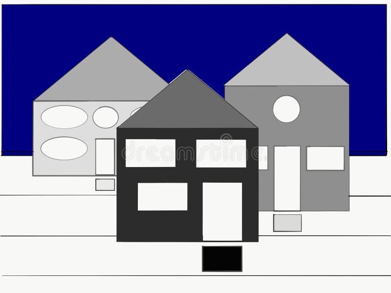 使您想知道的神奇房子什么`里面s 库存例证