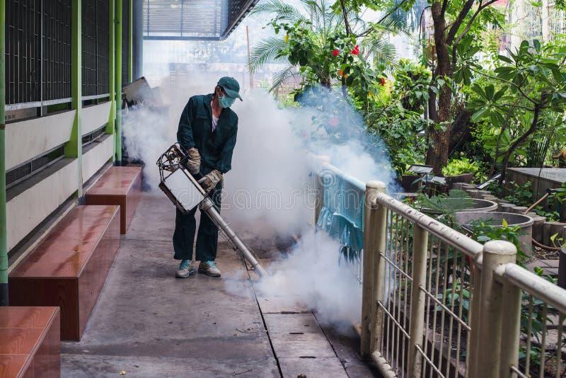 使模糊人的工作消灭防止的被传播的登革热和zika病毒蚊子 免版税库存图片