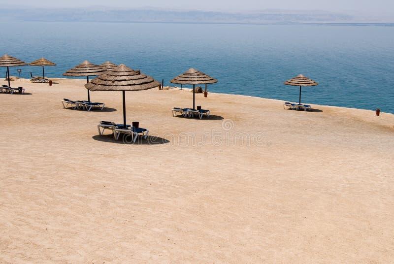 使死海靠岸 图库摄影