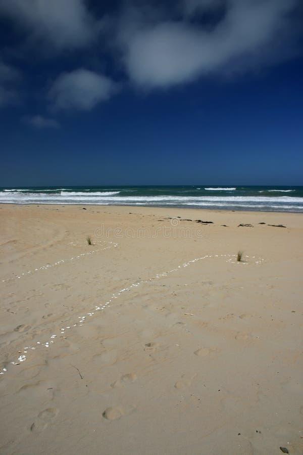 使海洋靠岸 库存图片