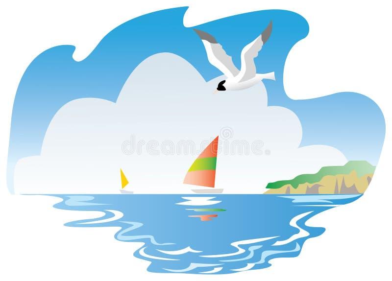 使海运环境美化 库存例证