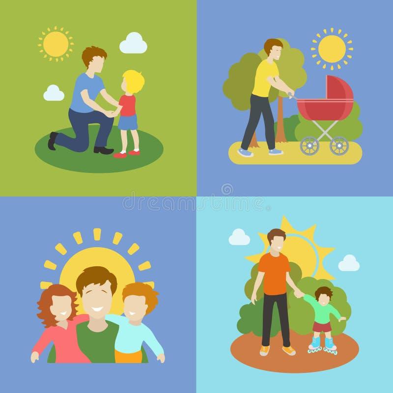 使用与儿童例证的父权父亲 库存例证