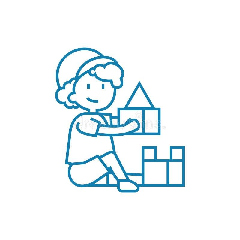 使用与块线性象概念 使用与封闭的线路传染媒介标志,标志,例证 皇族释放例证