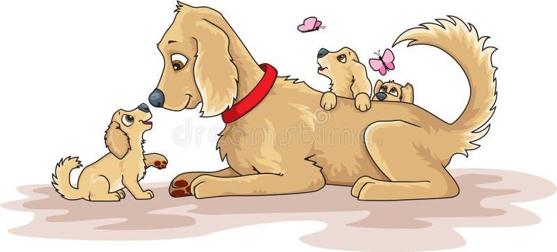 Download 早年初恋 向量例证. 插画 包括有 空白, 宠物, 母亲, 小狗, 拉布拉多, 似犬, 系列, 猎犬, 嬉戏 - 30337977