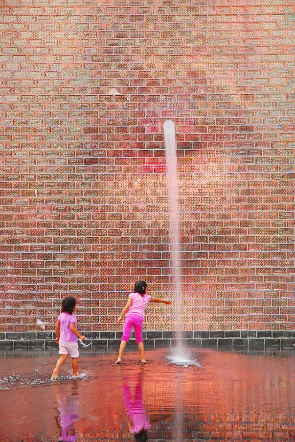 使用在冠喷泉在芝加哥 库存图片