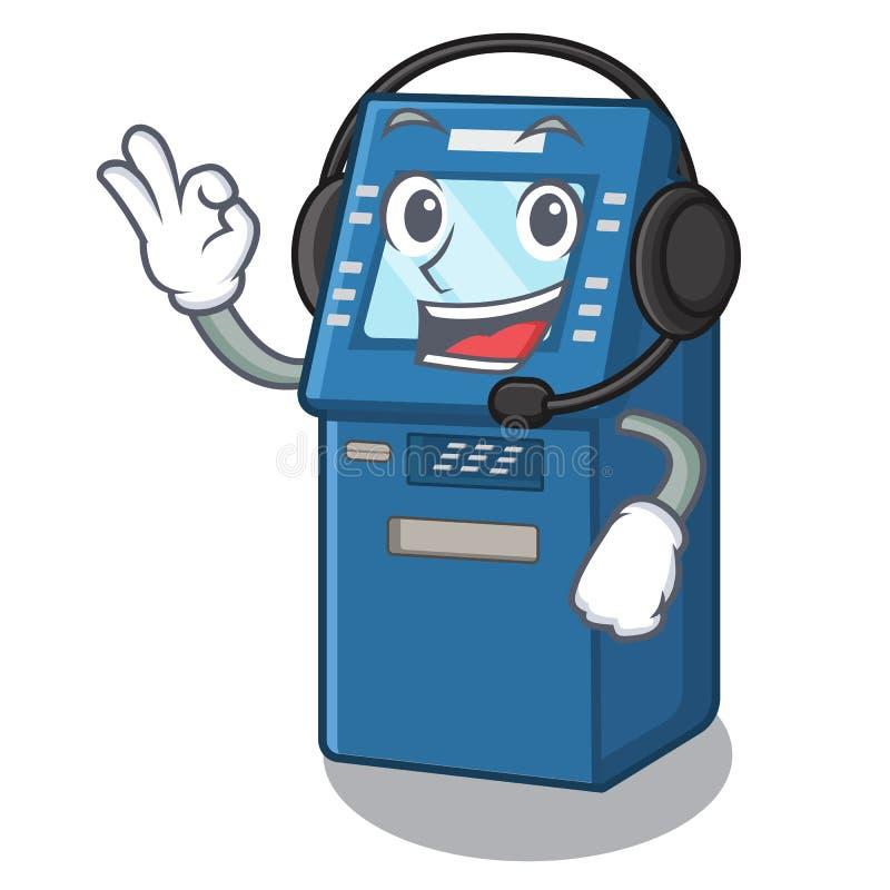 使用在动画片碗柜的耳机ATM玩具 库存例证