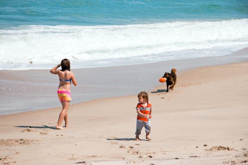 使用在海滩 免版税库存图片