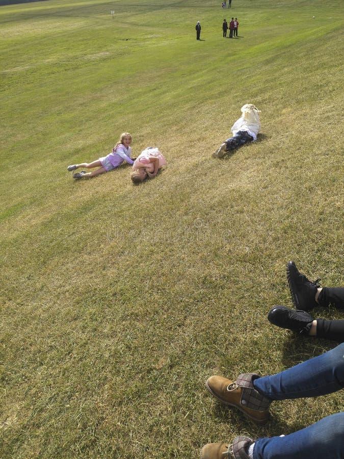 使用在菲尼斯公园,爱尔兰共和国的孩子 免版税图库摄影