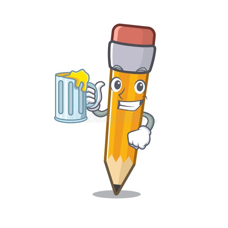 使用在a动画片袋子的汁液铅笔 皇族释放例证