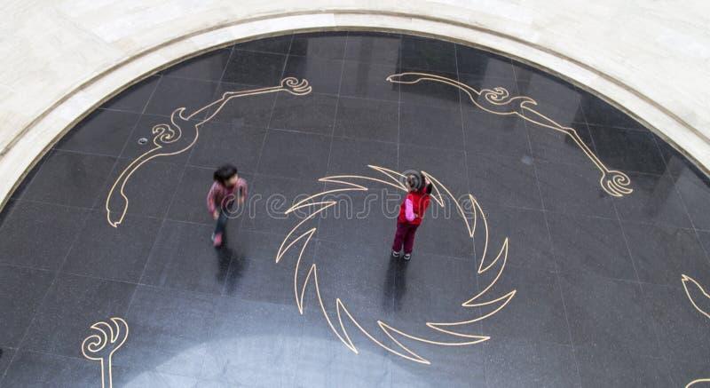 使用在jinsha博物馆,成都,瓷的孩子 免版税图库摄影