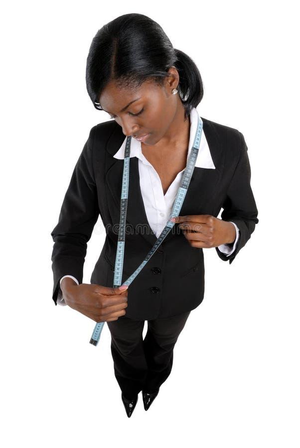 使用妇女的企业评定的磁带 免版税库存图片